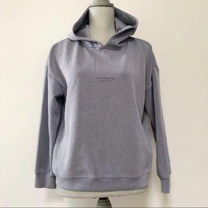 Acne studios reverse logo silky hoodie